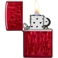 Lighter Zippo Candy Apple Red Iced Flames