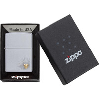 Lighter Zippo Heart Design