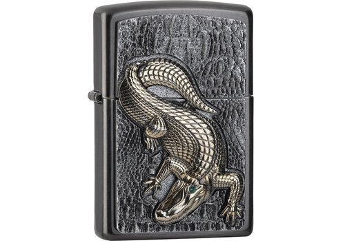 Lighter Zippo Golden Crocodile Emblem