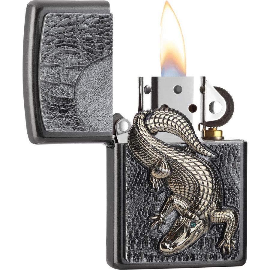 Aansteker Zippo Golden Crocodile Emblem