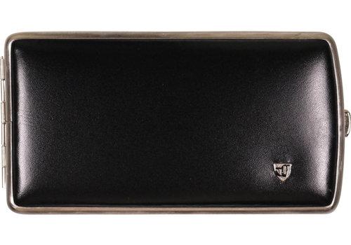 Cigarette Case Black Leather (120 mm.)