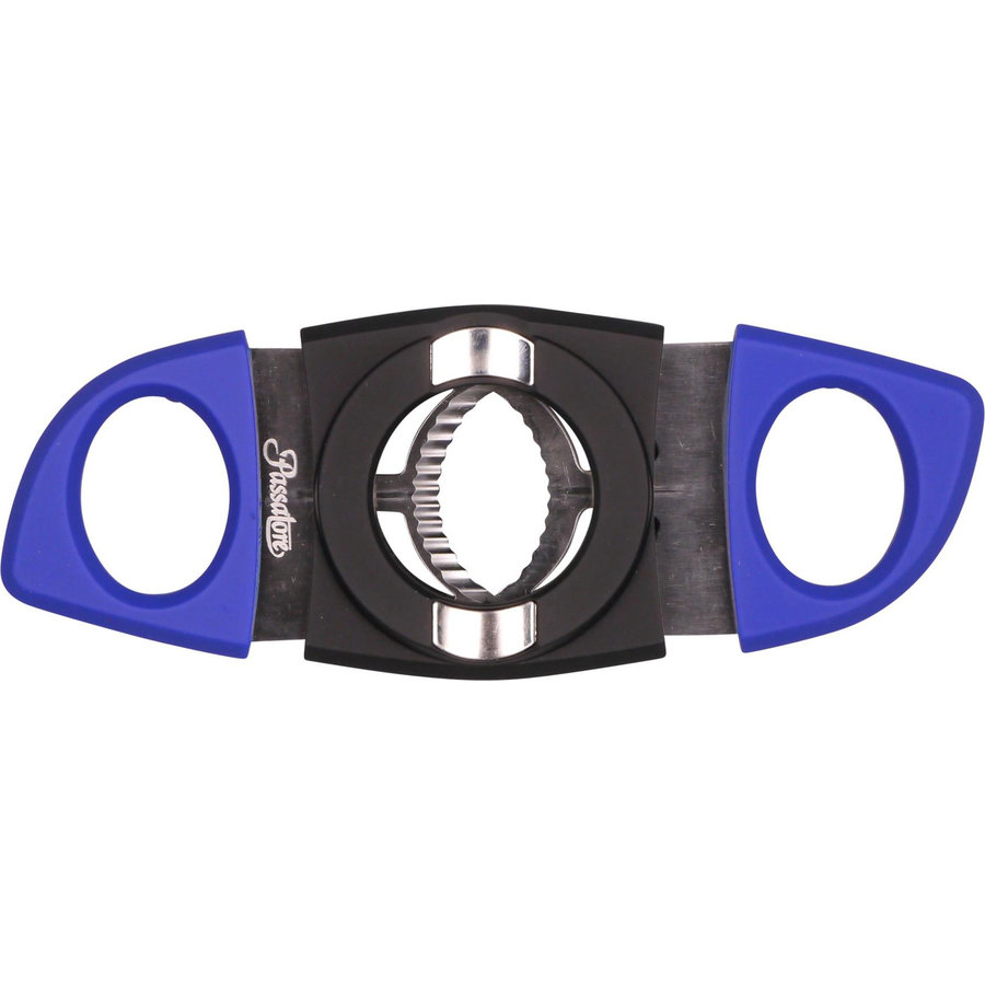 Cigar Cutter Passatore Rubberized Black/Blue