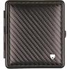 vom Hofe Cigarette Case Leather Carbon Black