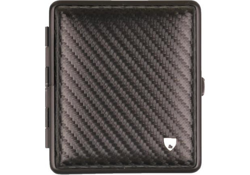 Cigarette Case Leather Carbon Black