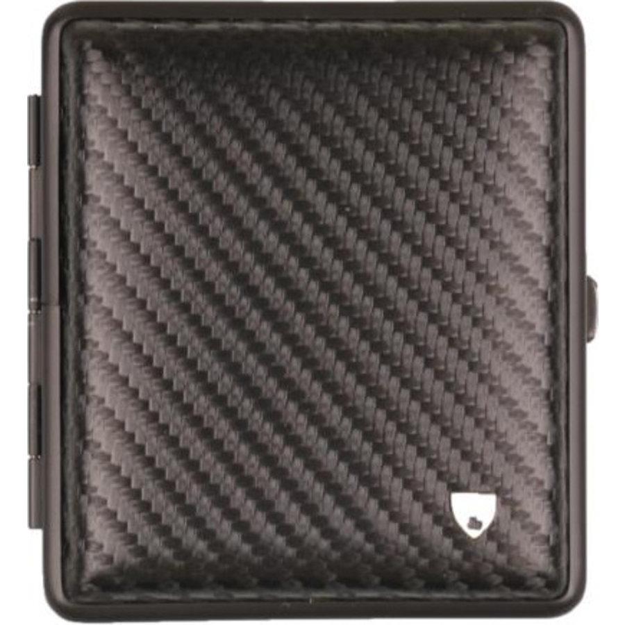 Cigarette Case Leather Carbon Black
