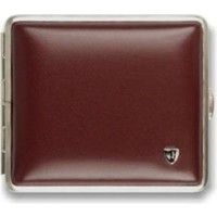 Cigarette Case Soft Leather Red