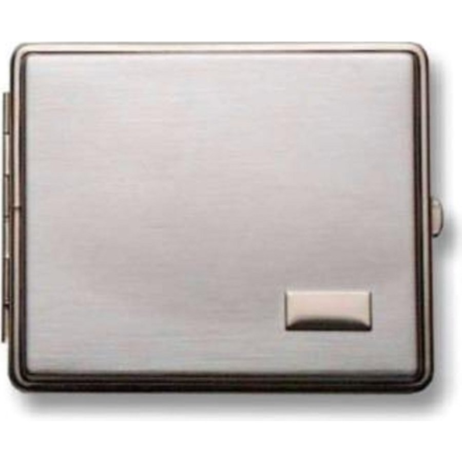 Cigarette Case Chrome Brushed