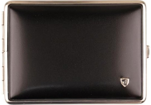 Cigarette Case Soft Leather Black