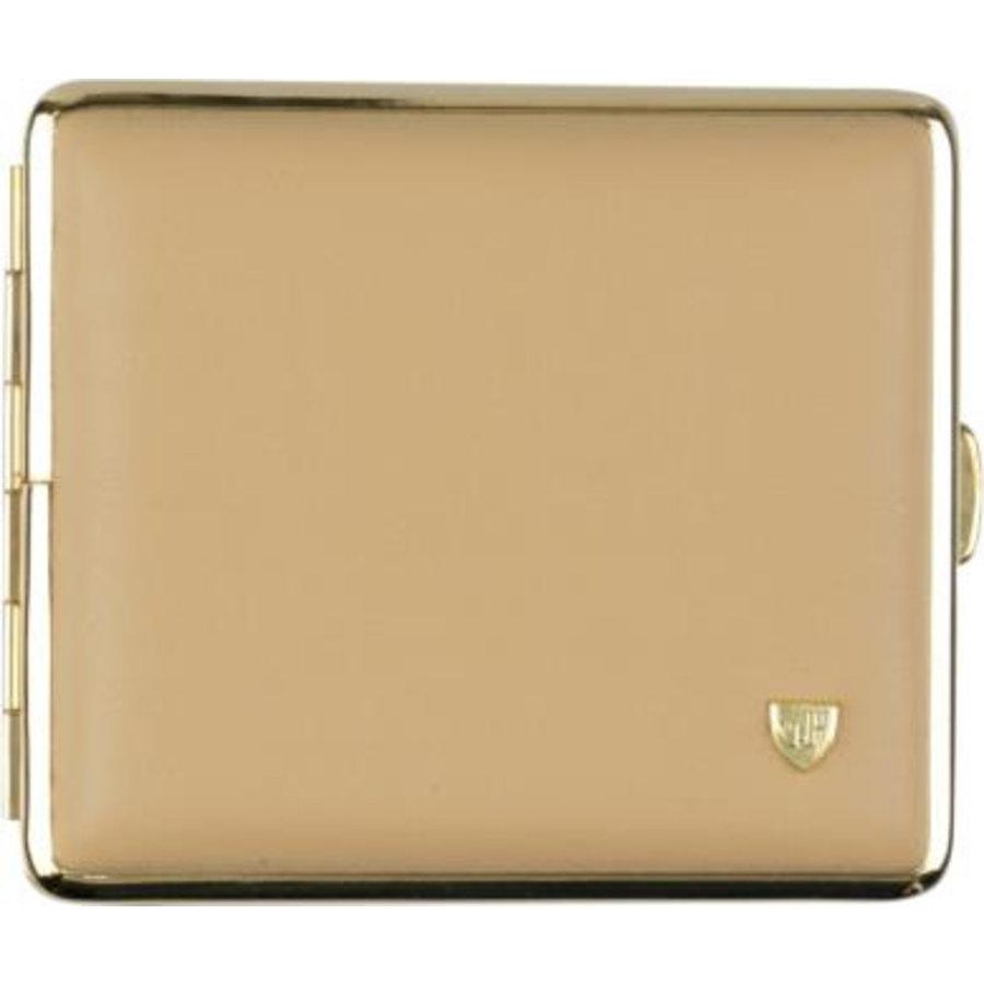 Cigarette Case Soft Leather Beige