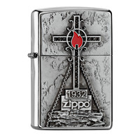 Lighter Zippo Peak Cross Emblem