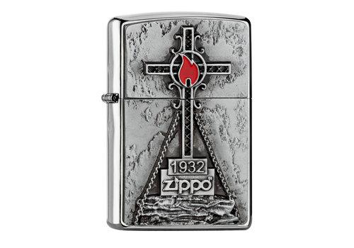 Aansteker Zippo Peak Cross Emblem