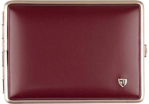 Cigarette Case Soft Leather Red 100 mm.