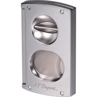 Cigar Cutter Dupont Chrome 003418 double blades & v-cut