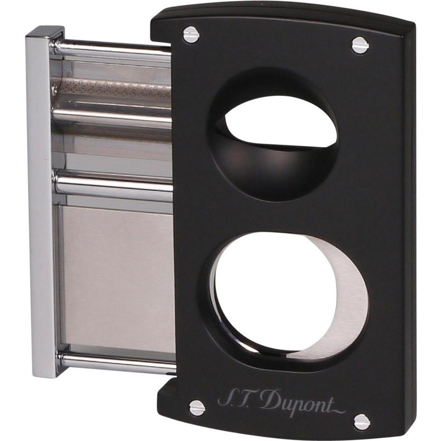 Cigar Cutter Dupont Black 003419 double blades & v-cut