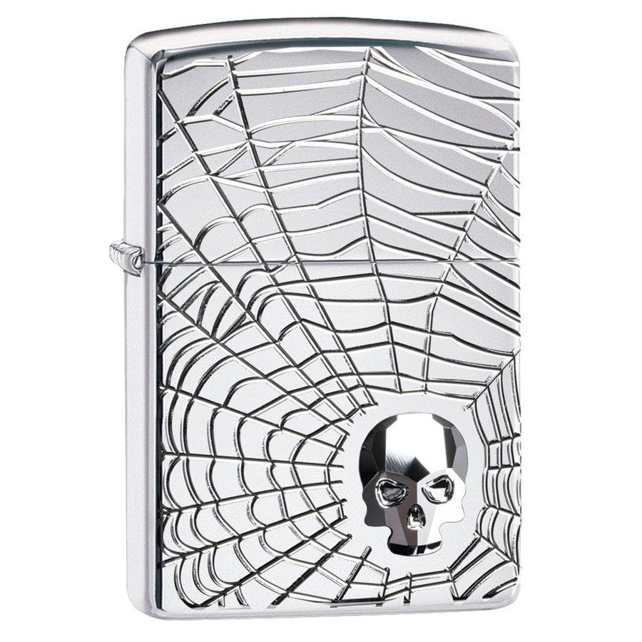 Lighter Zippo Armor Case Spider Web