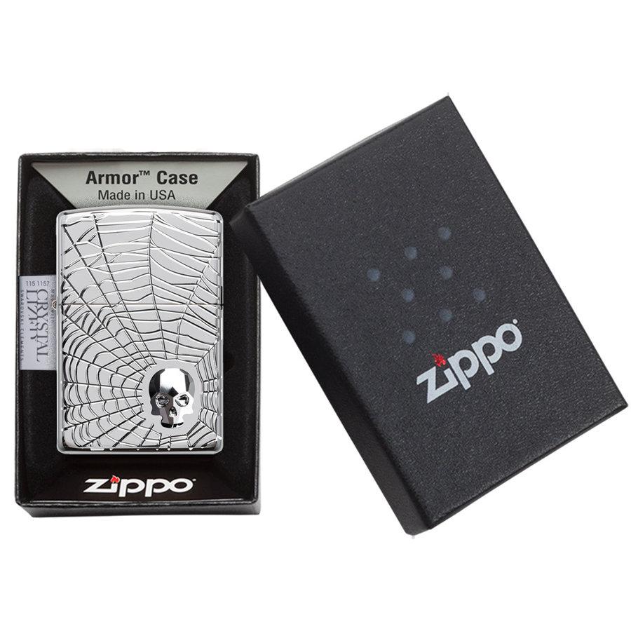 Aansteker Zippo Armor Case Spider Web