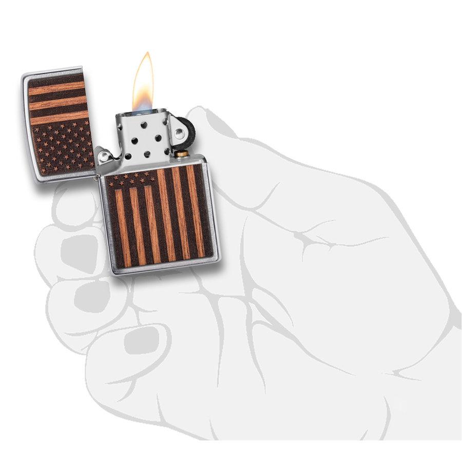 Aansteker Zippo Woodchuck Emblem USA Flag