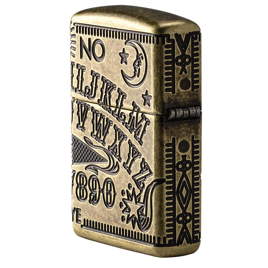 Lighter Zippo Armor Case Ouija Board Multi Cut
