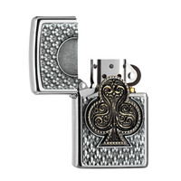 Lighter Zippo Playing Card Clubs