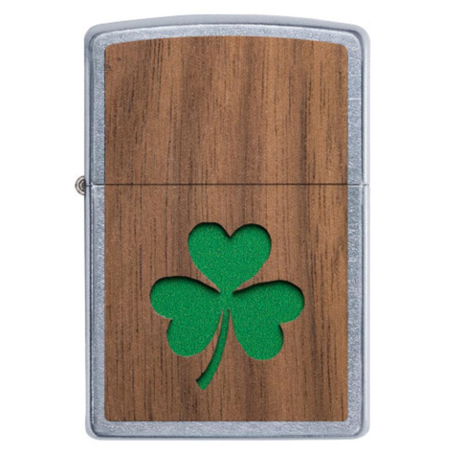 Lighter Zippo Woodchuck Emblem Clover