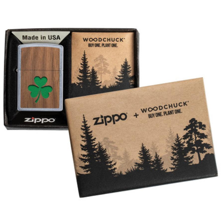 Aansteker Zippo Woodchuck Emblem Clover