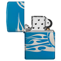 Lighter Zippo Skull with Flames all around