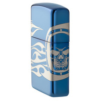 Aansteker Zippo Skull with Flames all around