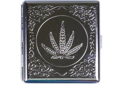 Cigarette Case Hemp Leaf