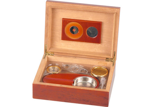 Rose Wood Humidor Gift Set