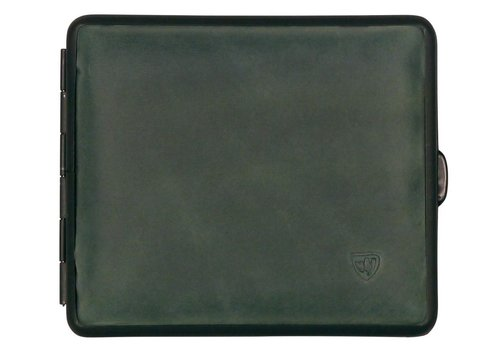 Cigarette Case Velours Leather Green