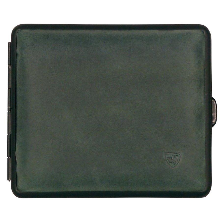 Cigarette Case Velours Leather Green