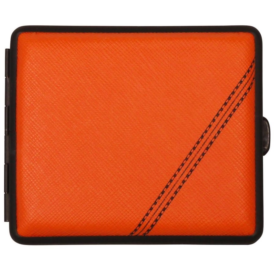 Sigarettenkoker Nappa Leather Orange Black Stripe