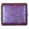 vom Hofe Cigarette Case Nappa Leather Purple Flowers