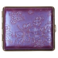 Sigarettenkoker Nappa Leather Purple Flowers
