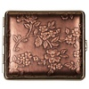 vom Hofe Cigarette Case Nappa Leather Bronze Flowers
