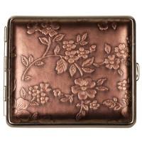 Sigarettenkoker Nappa Leather Bronze Flowers