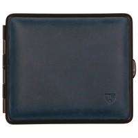 Cigarette Case Velours Leather Blue