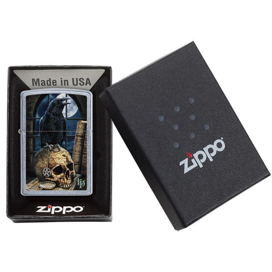 Lighter Zippo Lisa Parker Skull Raven