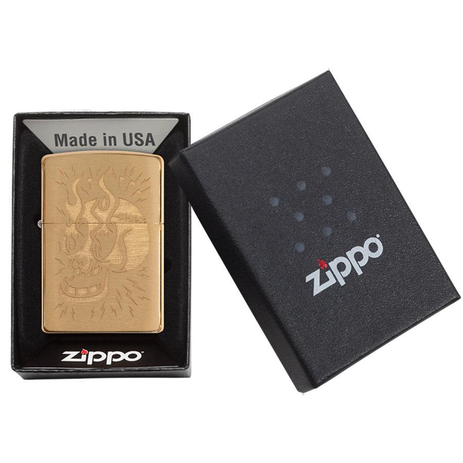Lighter Zippo Tattoo Skull