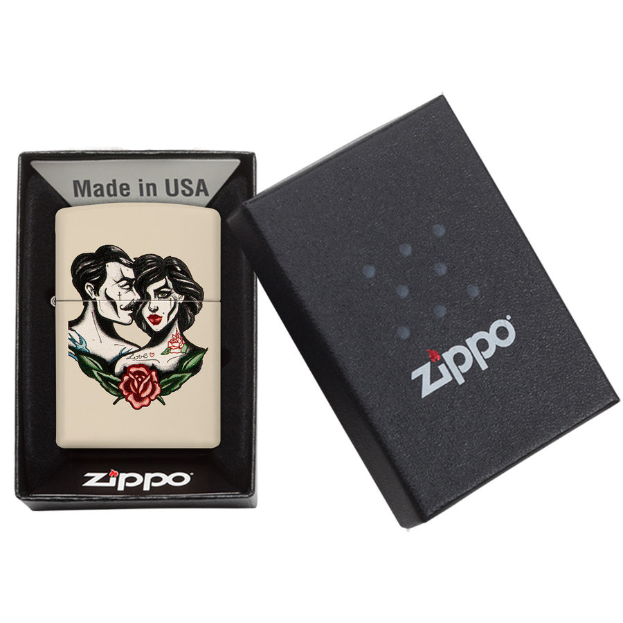 Lighter Zippo Love Tattoo Rose