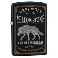 Lighter Zippo Yellowstone Grey Wolf