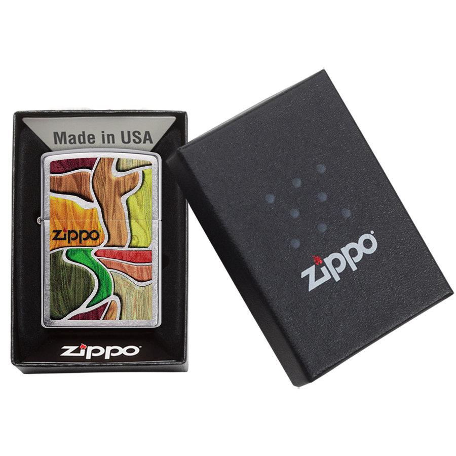 Lighter Zippo Colorful Wood Design