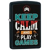 Zippo Aansteker Zippo Keep Calm And Play Games