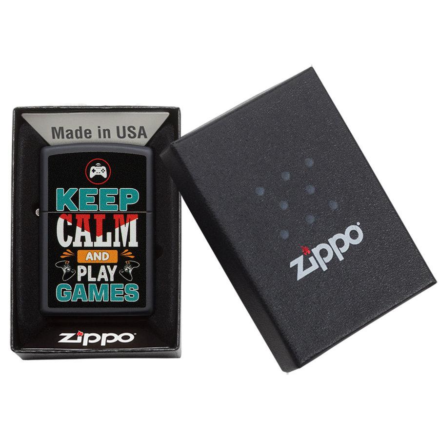 Aansteker Zippo Keep Calm And Play Games