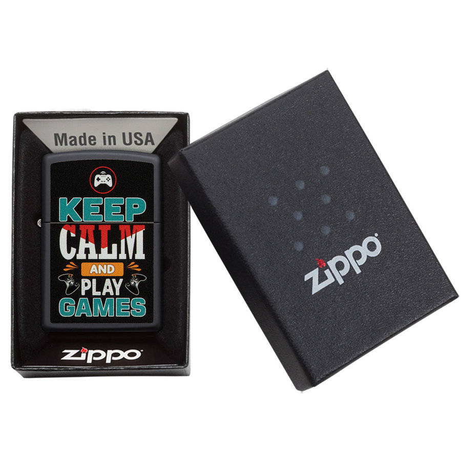 Lighter Zippo Keep Calm And Play Games