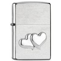 Lighter Zippo Double Heart Emblem