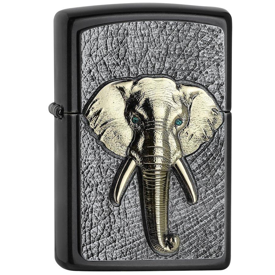 Lighter Zippo Elephant Tri-Color Emblem