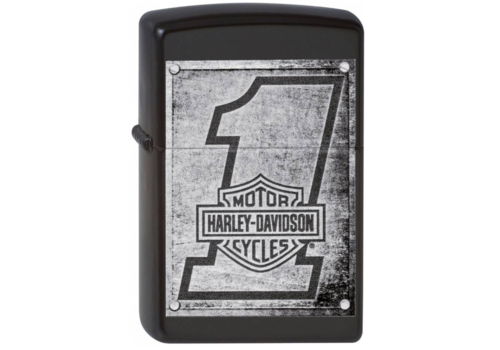 Aansteker Zippo Harley Davidson Metal Wood Planks