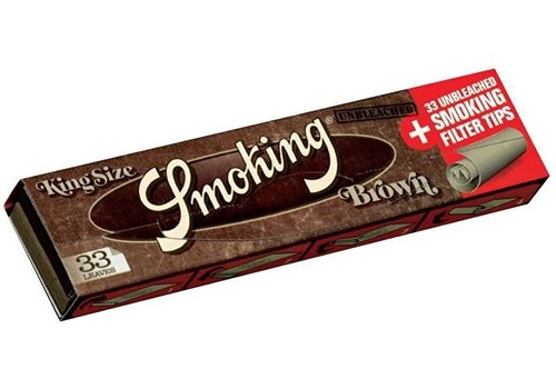 Smoking Kingsize Brown Rolling Paper & Tips