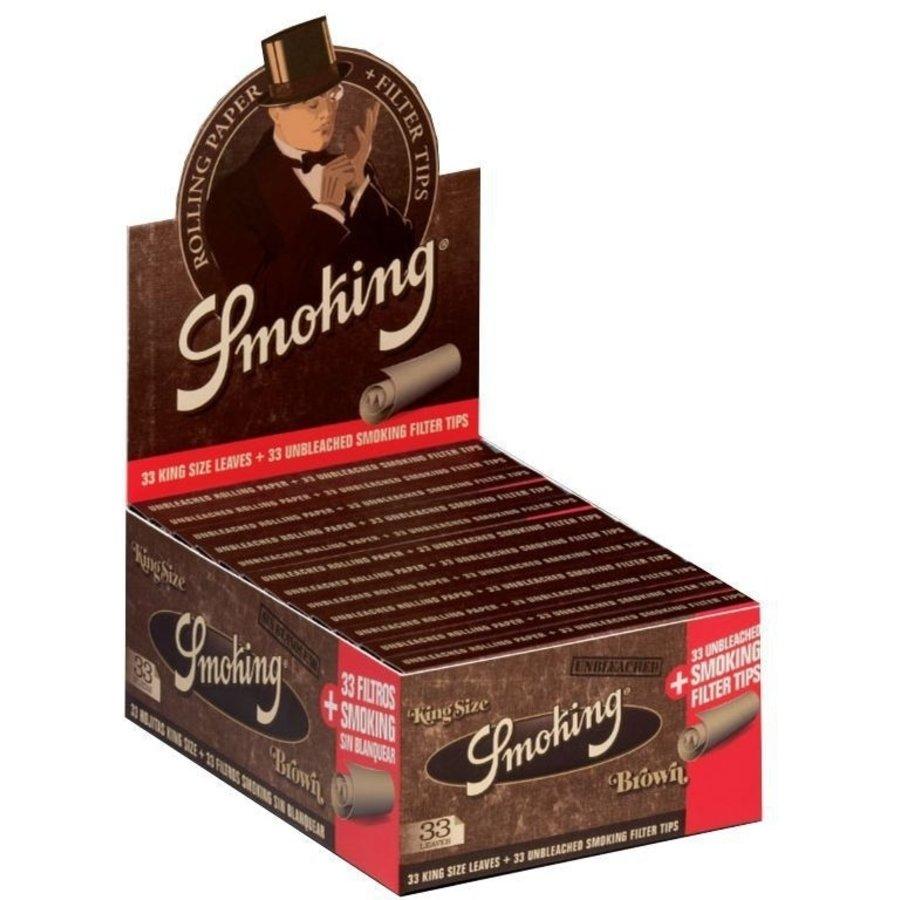 Smoking Kingsize Brown Vloei & Tips Box